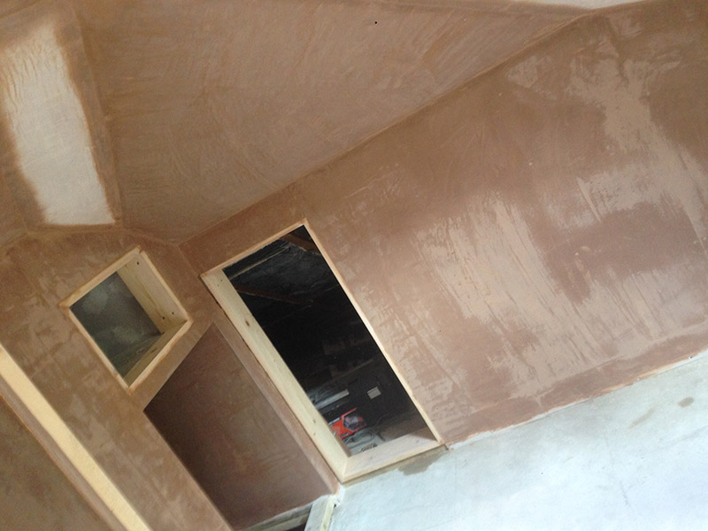 Plastered alchoves in Bedroom