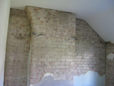Wall before plastering