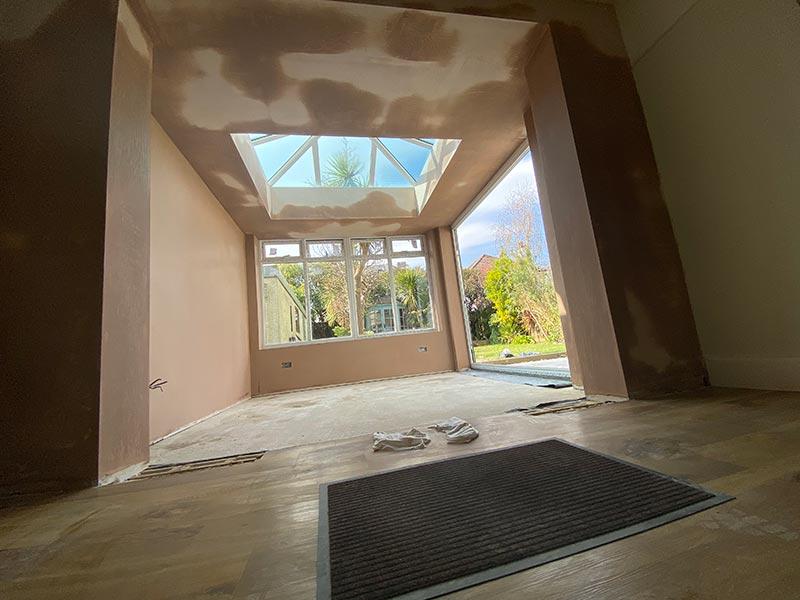 Basingstoke plasterer completes conservatory