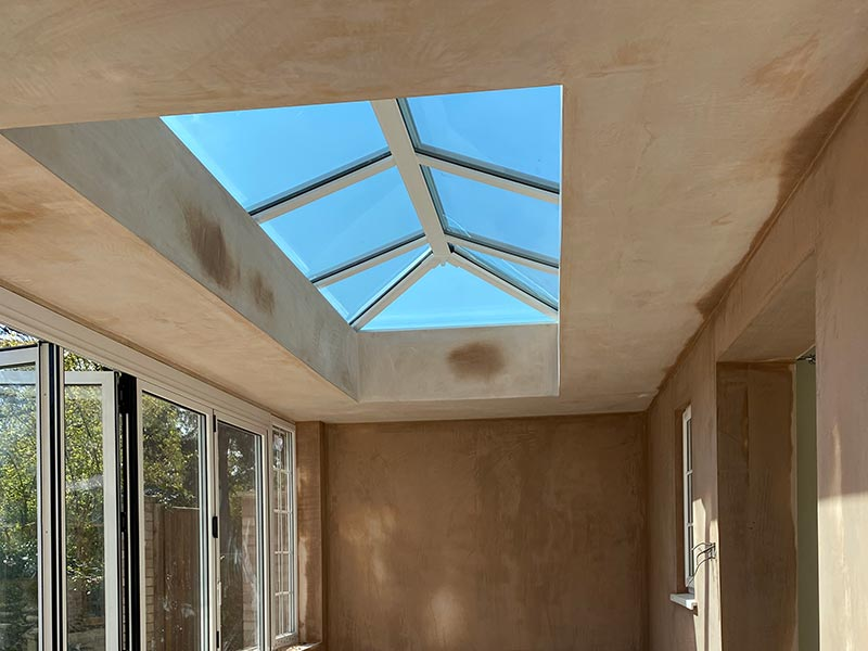 Conservatory Roof Plastering